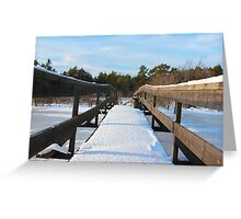 The Herrestadsjön bridge I Greeting Card
