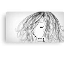 Flowing Hair Canvas Print