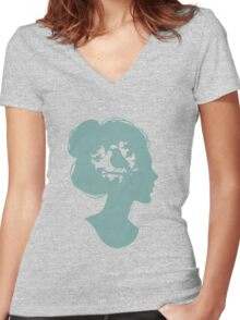 Summer on my Mind Women's Fitted V-Neck T-Shirt