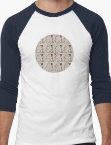 cat and butterfly Men's Baseball ¾ T-Shirt