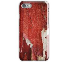 Red Peeling Paint Texture  iPhone Case/Skin