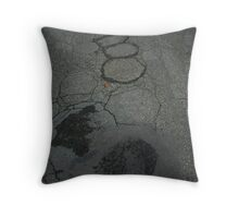 Pothole Progression Throw Pillow