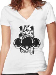 151 - Poke'dex Original (Light) Women's Fitted V-Neck T-Shirt
