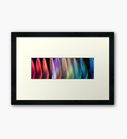 Fountains Of Color Framed Print