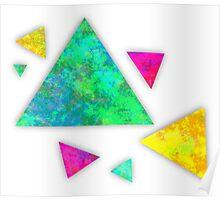 Retro-80s Confetti Triangles Poster