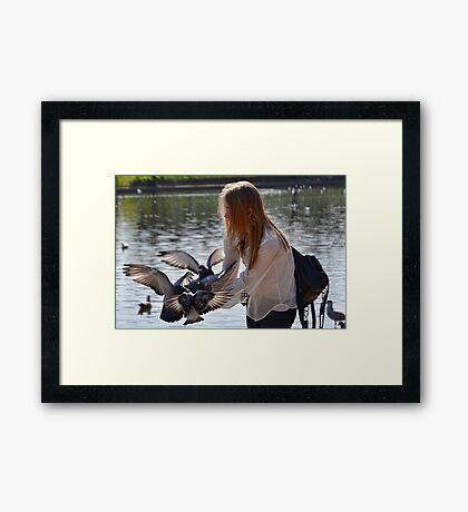 Bird Girl At Exeter Quays, Exeter , Devon Framed Print