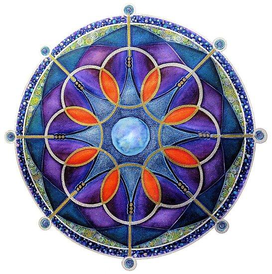 Mandala : Mystery Moon  by danita clark