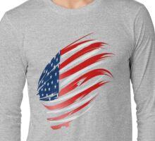 American Flag-2  Long Sleeve T-Shirt