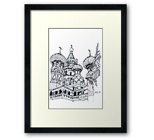 St.Basil's Cathedral in Russia Framed Print