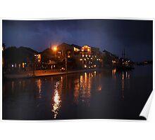 Thu Bon River By Night Poster