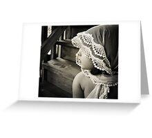 her shawl Greeting Card