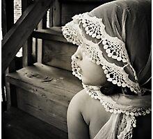 her shawl Photographic Print