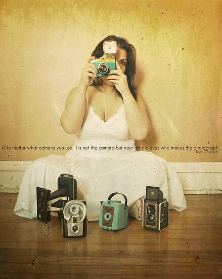 my vintage cameras and i by Angel Warda