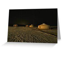 Ger camp at night Greeting Card