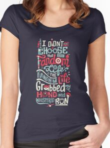 Fandom Life Women's Fitted Scoop T-Shirt
