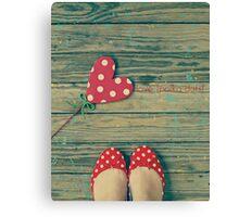 love. [polka-dots] Canvas Print