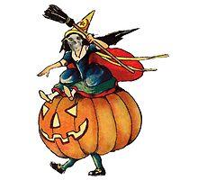 Queen Reaper (Vintage Halloween Card) by Welte Arts & Trumpery