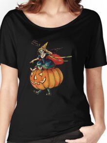 Queen Reaper (Vintage Halloween Card) Women's Relaxed Fit T-Shirt