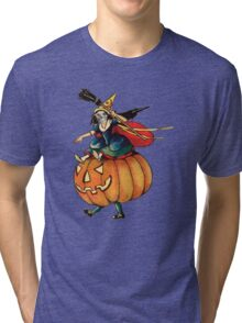 Queen Reaper (Vintage Halloween Card) Tri-blend T-Shirt
