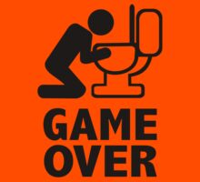 Game over puke toilet by Designzz