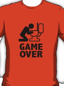 Game over puke toilet T-Shirt