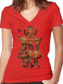 Monsta X Women's Fitted V-Neck T-Shirt