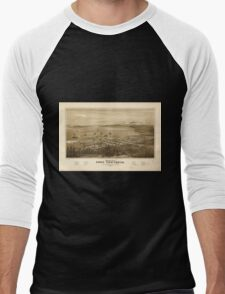 Panoramic Maps Bird's eye view of Port Townsend Puget Sound Washington Territory 1878 Men's Baseball ¾ T-Shirt