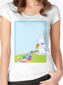 Easter Egg Hunt Women's Fitted Scoop T-Shirt