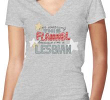 For Clarification Women's Fitted V-Neck T-Shirt