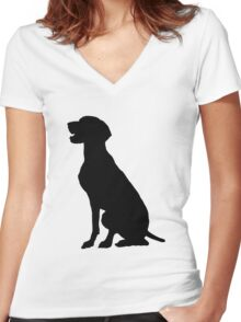 German Pointer Women's Fitted V-Neck T-Shirt
