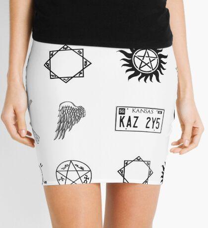 devils trap mini skirts redbubble