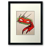 I swear I'll slap the green off you. Framed Print