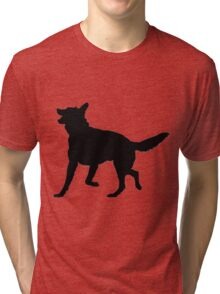 German Shepherd Silhouette Tri-blend T-Shirt