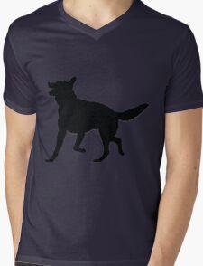 German Shepherd Silhouette Mens V-Neck T-Shirt