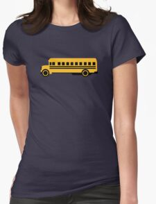 School bus Womens Fitted T-Shirt