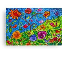 Dancing Florals Canvas Print
