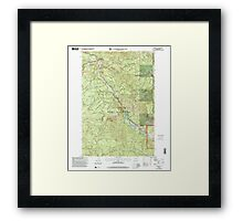 USGS Topo Map Washington State WA Cliffdell 240579 2000 24000 Framed Print
