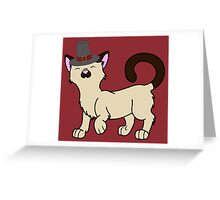 Thanksgiving Siamese Cat with Pilgrim Hat Greeting Card