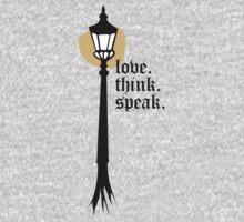 Love. Think. Speak One Piece - Long Sleeve