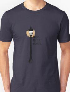 Love. Think. Speak Unisex T-Shirt