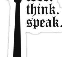 Love. Think. Speak Sticker