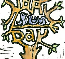 Happy Birthdaycard in colour by Sanne Thijs