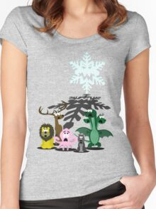 Winter is coming... Women's Fitted Scoop T-Shirt