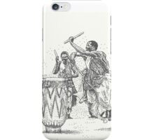 African Tribal Drummers iPhone Case/Skin