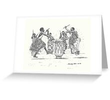 African Tribal Drummers Greeting Card