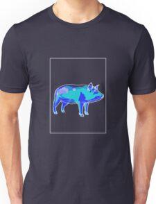Pig Blue Green B Unisex T-Shirt