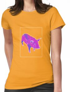 Pig Blue Purple C Womens Fitted T-Shirt