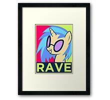 RAVE Framed Print