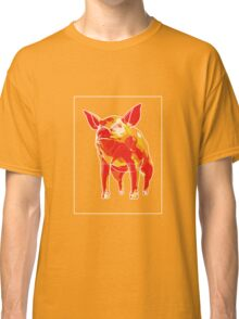 Pig Yellow Red F Classic T-Shirt