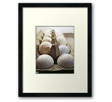 Golfer's Breakfast Framed Print